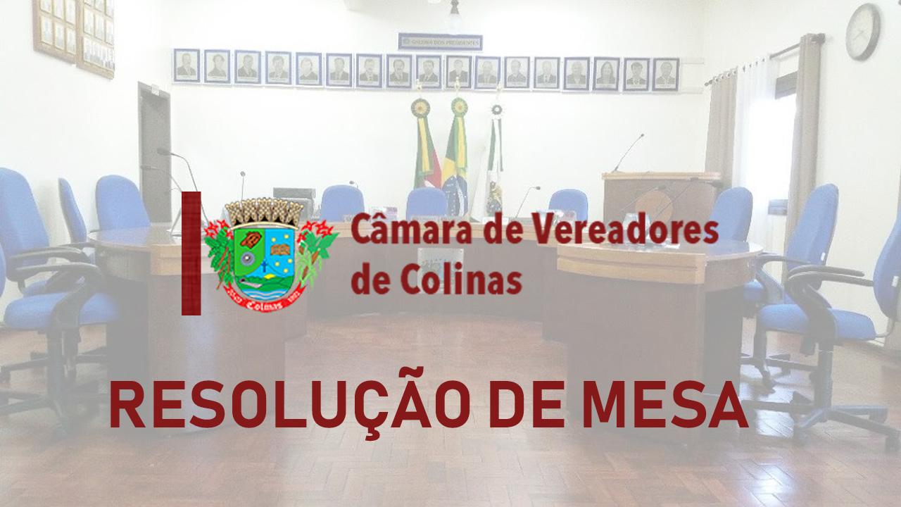 RESOLUÇÃO DE MESA N°007/2020